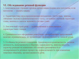VI. Обследование речевой функции Анатомическое строение органов артикуляции (