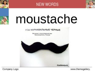 moustache NEW WORDS