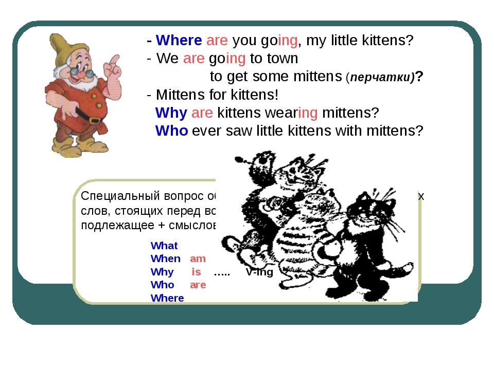 Специальный вопрос образуется при помощи специальных слов, стоящих перед вспо...