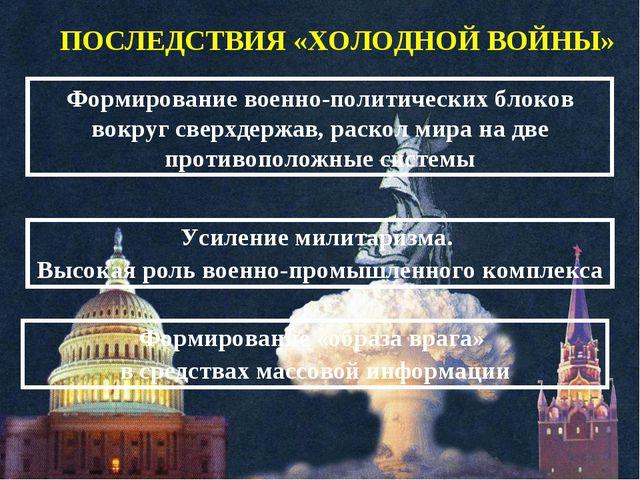 Формирование военно-политических блоков вокруг сверхдержав, раскол мира на дв...