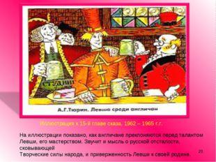 * Иллюстрация к 15-й главе сказа. 1962 – 1965 г.г. На иллюстрации показано, к