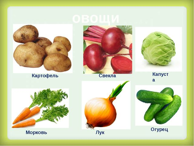 овощи Картофель Свекла Капуста Морковь Лук Огурец