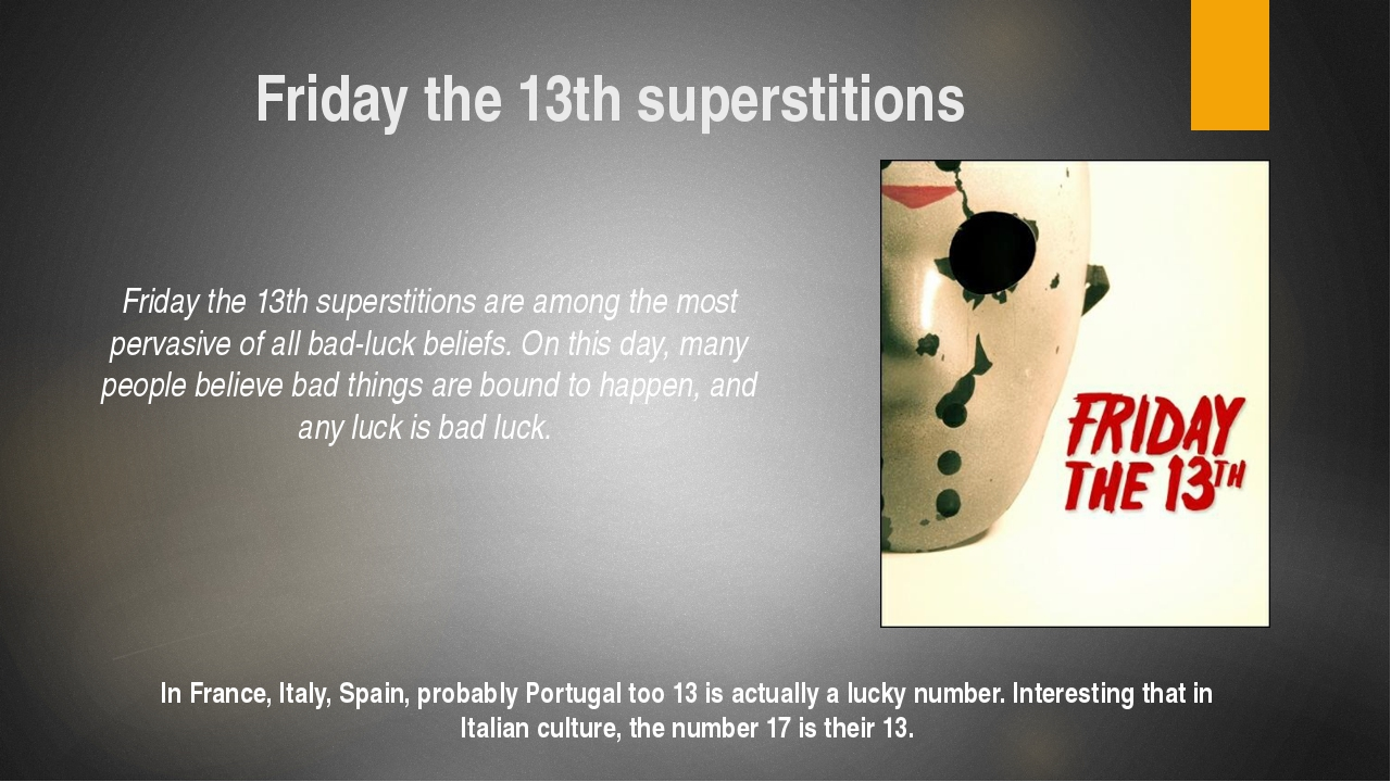 Презентация Superstitions of different countries