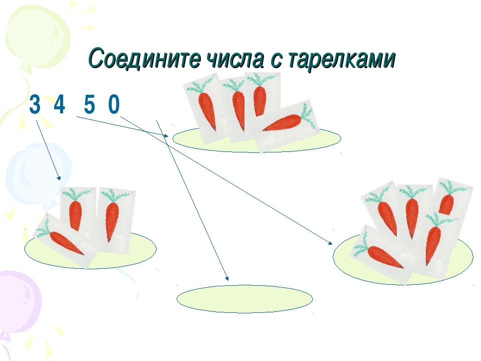 Соедините числа с тарелками 3 4 5 0