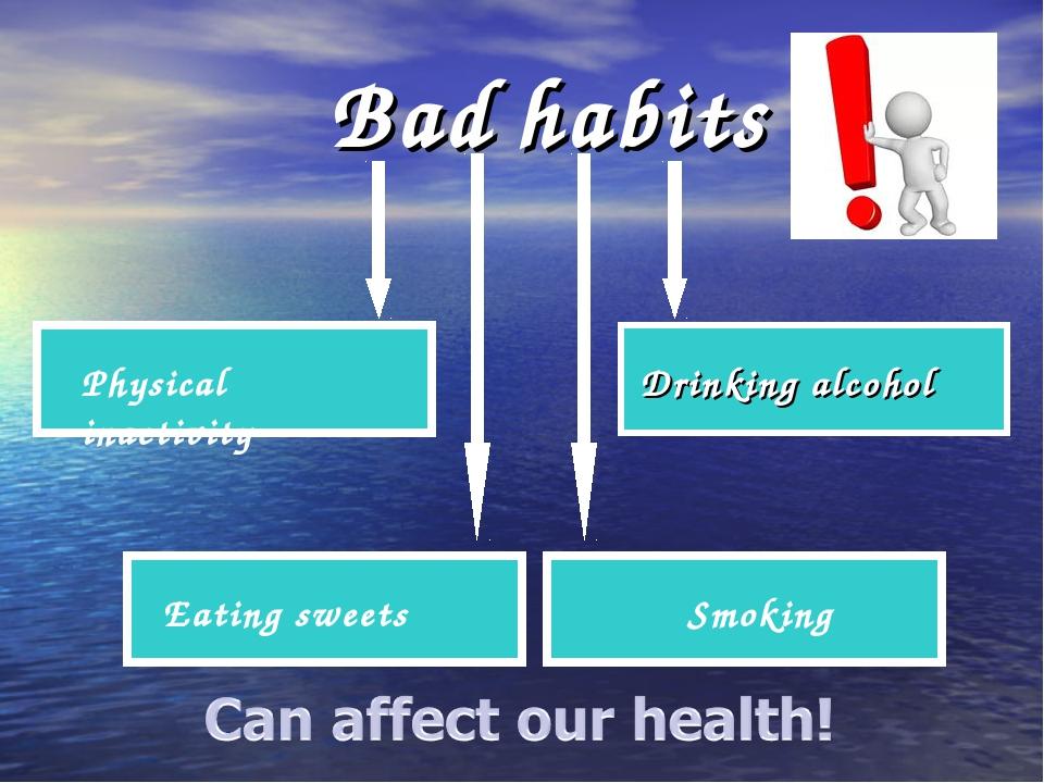 Bad habits Physical inactivity Eating sweets Smoking Drinking alcohol