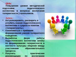 Цель: Повышение уровня методической подготовки педагогического коллектива в в