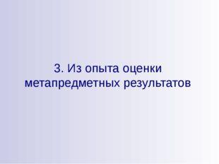 3. Из опыта оценки метапредметных результатов