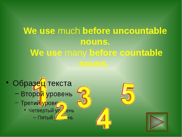 We use much before uncountable nouns. We use many before countable nouns.