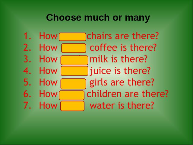 Choose much or many