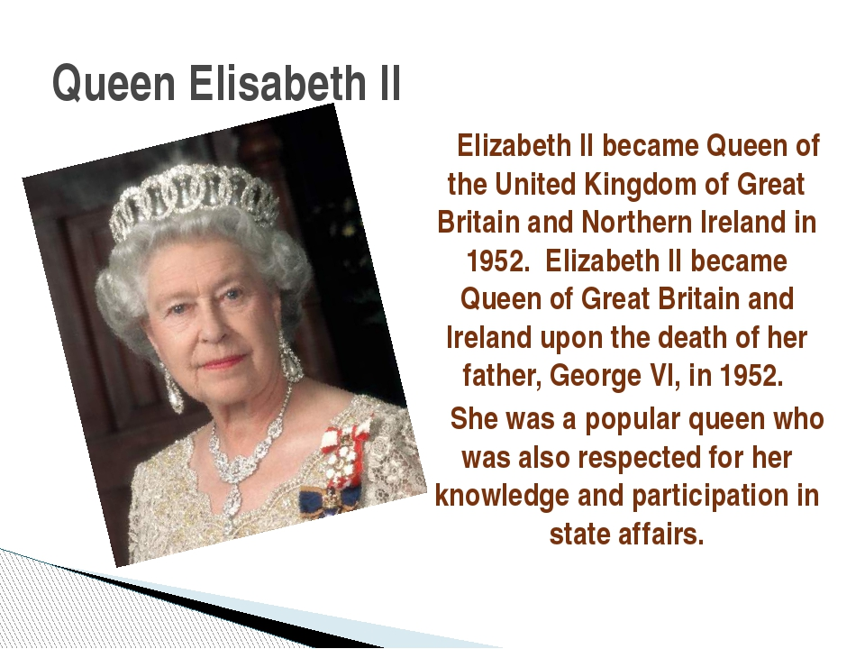Elizabeth II became Queen of the United Kingdom of Great Britain and Norther...