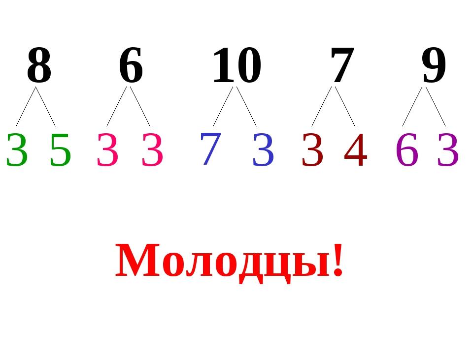 8 6 10 7 9 3 3 3 3 3 5 3 7 4 6 Молодцы!