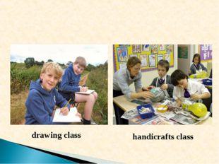 drawing class handicrafts class