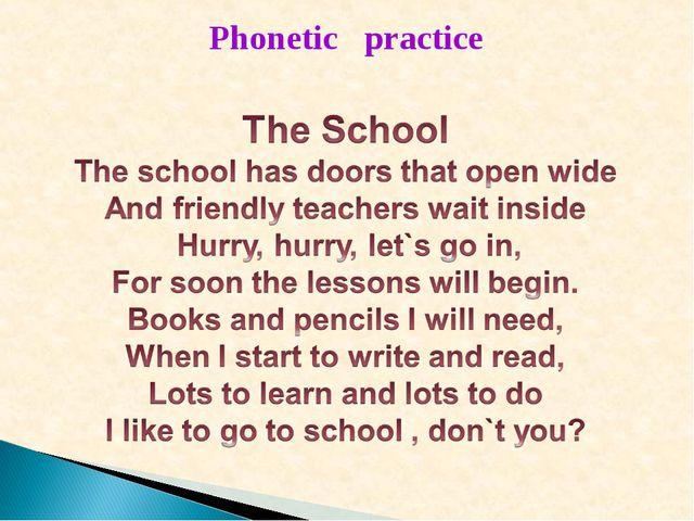 Phonetic practice