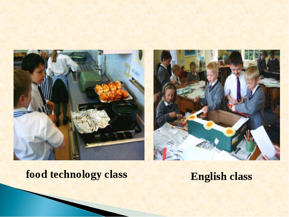 food technology class English class