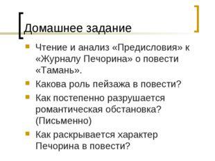 Домашнее задание Чтение и анализ «Предисловия» к «Журналу Печорина» о повести