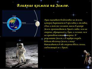 Влияние космоса на Землю. Луна оказывает воздействие на Землю, которое выража
