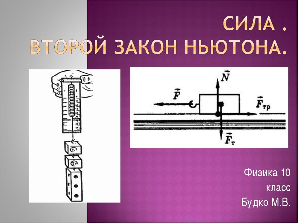 Физика 10 класс Будко М.В.