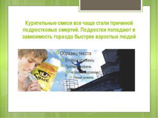 Курительные смеси все чаще стали причиной подростковых смертей. Подростки поп