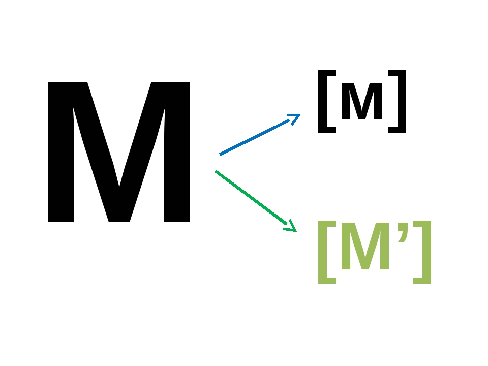 М [м] [М']