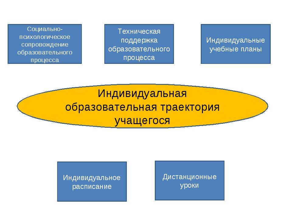 Индивидуальная образовательная траектория учащегося Индивидуальные учебные пл...