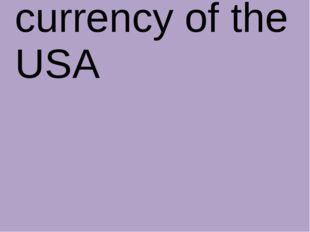 What is the currency of the USA