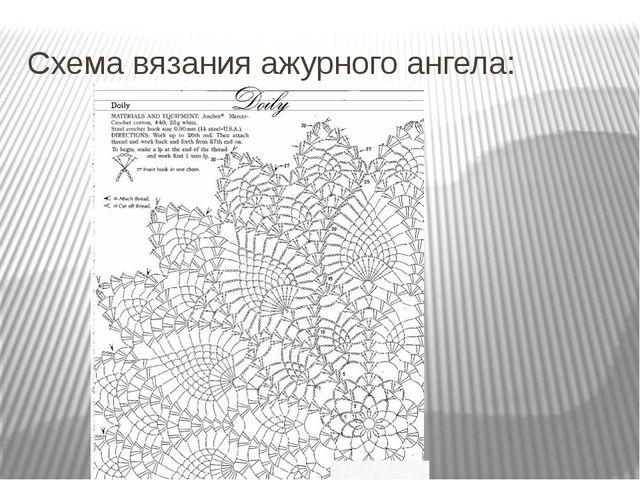 Схема вязания ажурного ангела: