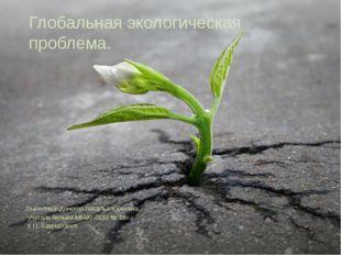 Глобальная экологическая проблема. Выполнил: Донская Наталья Юрьевна учитель