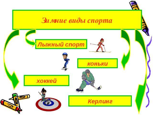 Лыжный спорт Керлинг хоккей коньки Зимние виды спорта