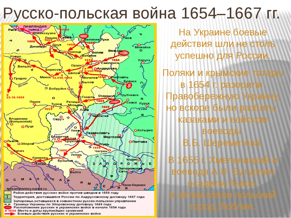 Русско-польская война 1654–1667 гг. На Украине боевые действия шли не столь у...