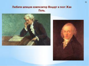 Любили шпицев композитор Моцарт и поэт Жан Поль. 15