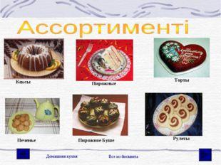 Кексы Пирожные Торты Печенье Пирожное Буше Рулеты Домашняя кухня Все из биск
