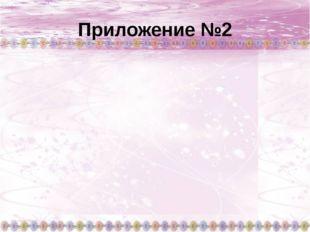 Приложение №2