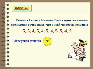 Ученица 7 класса Иванова Таня следит за своими оценками и точно знает, что в