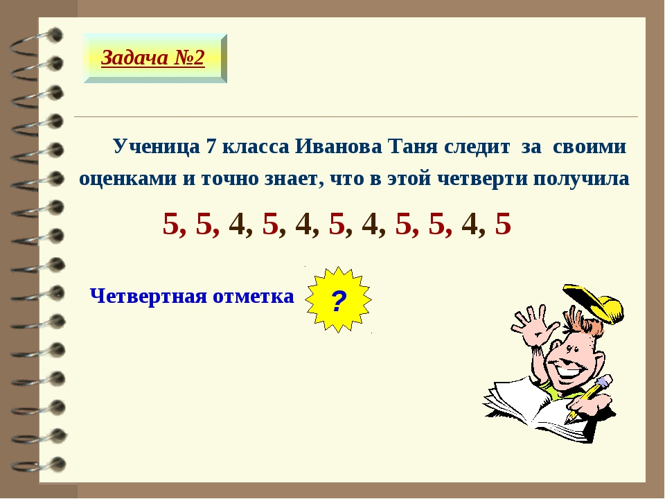 Ученица 7 класса Иванова Таня следит за своими оценками и точно знает, что в...