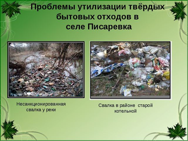 Проблемы утилизации твёрдых бытовых отходов в селе Писаревка Несанкционирован...