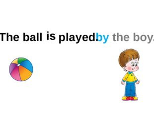 The ball by the boy. is played .