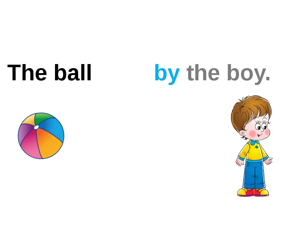 The ball by the boy. ?