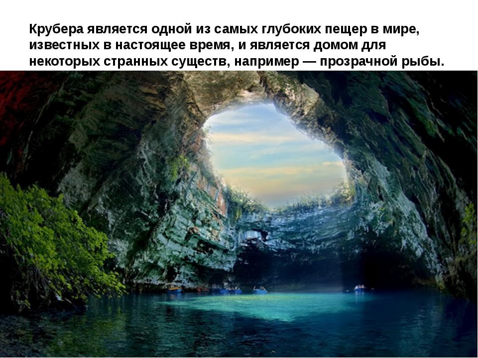 Крубера является одной из самых глубоких пещер в мире, известных в настоящее...
