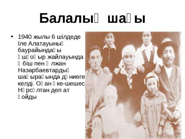 Балалық шағы 1940 жылы 6 шілдеде Іле Алатауының баурайындағы Үшқоңыр жайлауын...