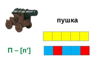 пушка П – [п']