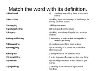 Match the word with its definition.