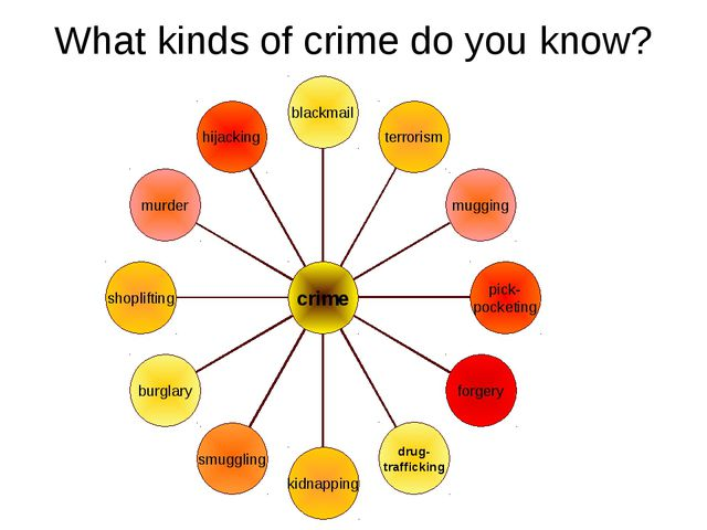 What kinds of crime do you know?