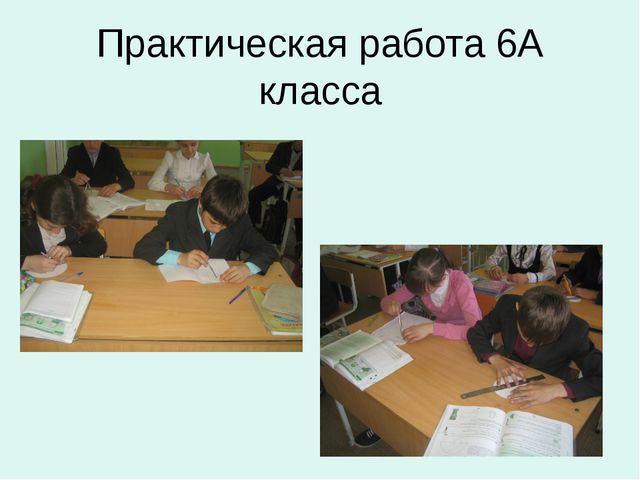 Практическая работа 6А класса
