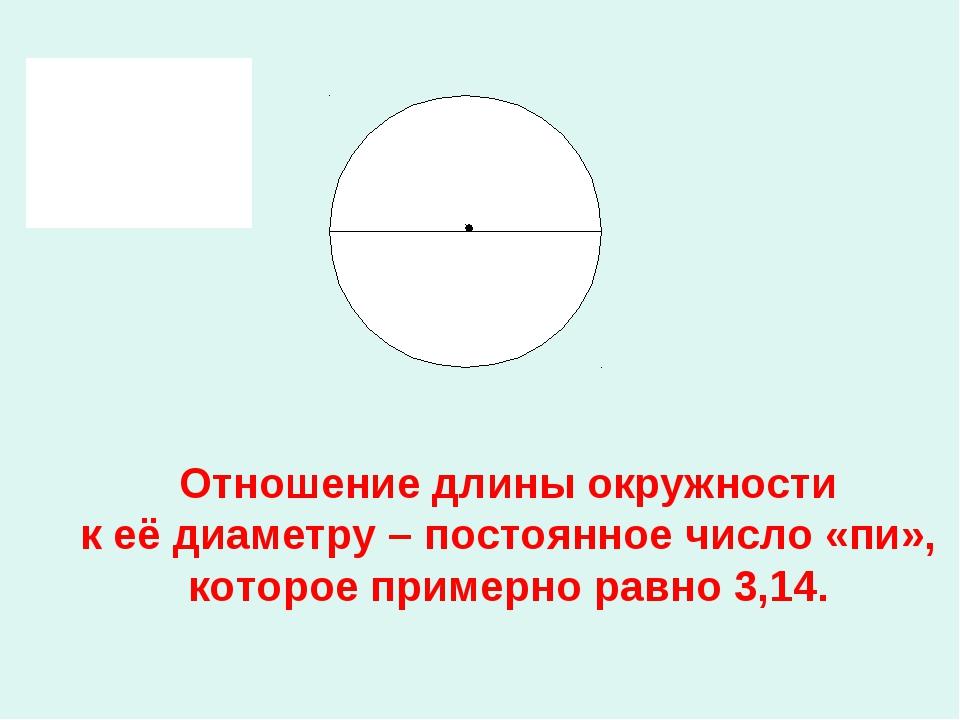 Отношение длины окружности к её диаметру – постоянное число «пи», которое пр...