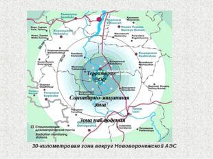 30-километровая зона вокруг Нововоронежской АЭС Территория РОО Санитарно-защи