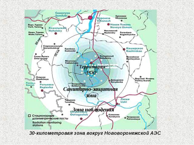 30-километровая зона вокруг Нововоронежской АЭС Территория РОО Санитарно-защи...