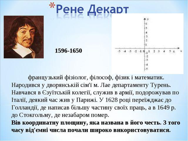 французький фізіолог, філософ, фізик і математик. Народився у дворянській сі...