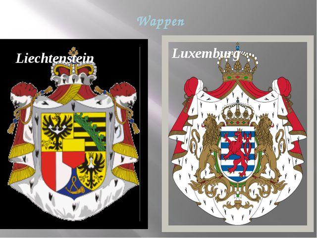 Wappen Luxemburg Liechtenstein