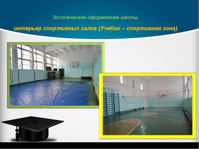 интерьер спортивных залов (Учебно – спортивная зона) Эстетическое оформление...