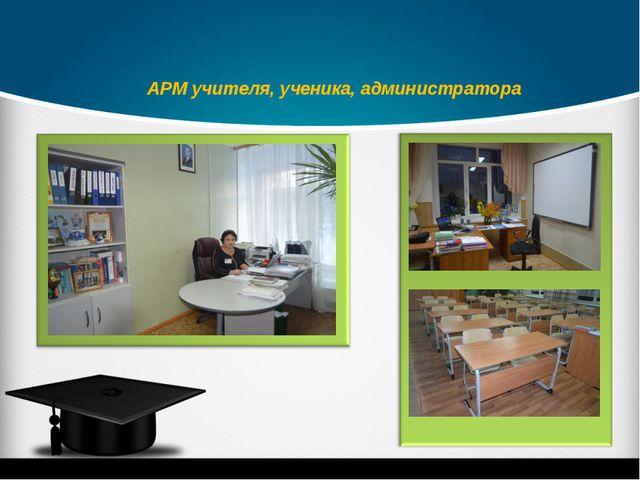 АРМ учителя, ученика, администратора